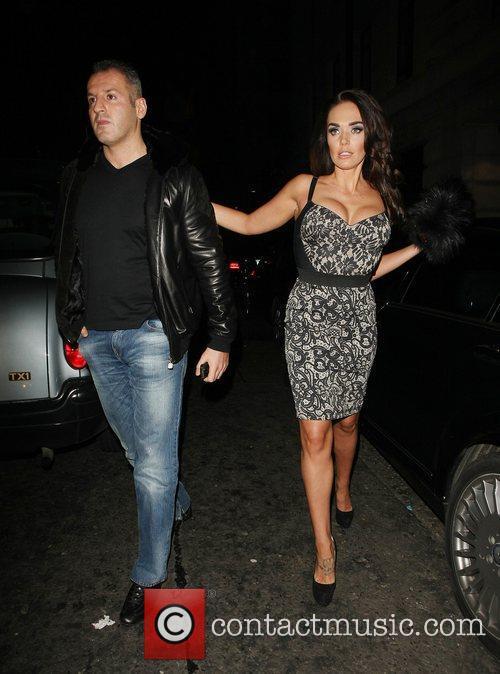 Omar Khyami and Tamara Eccleston at Novikov restaurant...