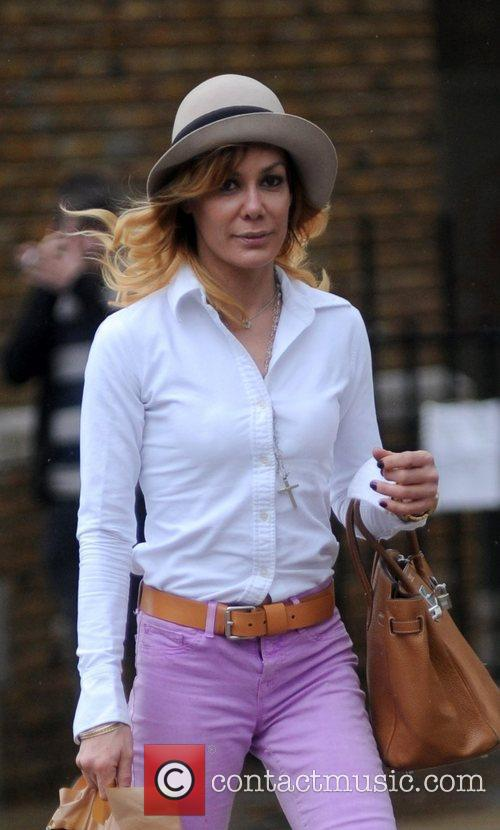 Tara Palmer-Tomkinson shopping in Chelsea, West London London,...