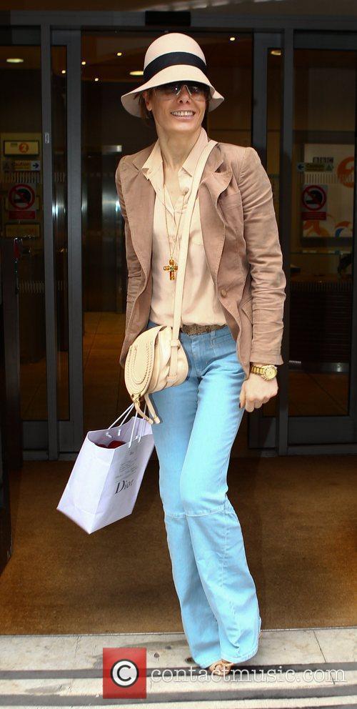 Tara Palmer Tomkinson outside the BBC Radio 2...