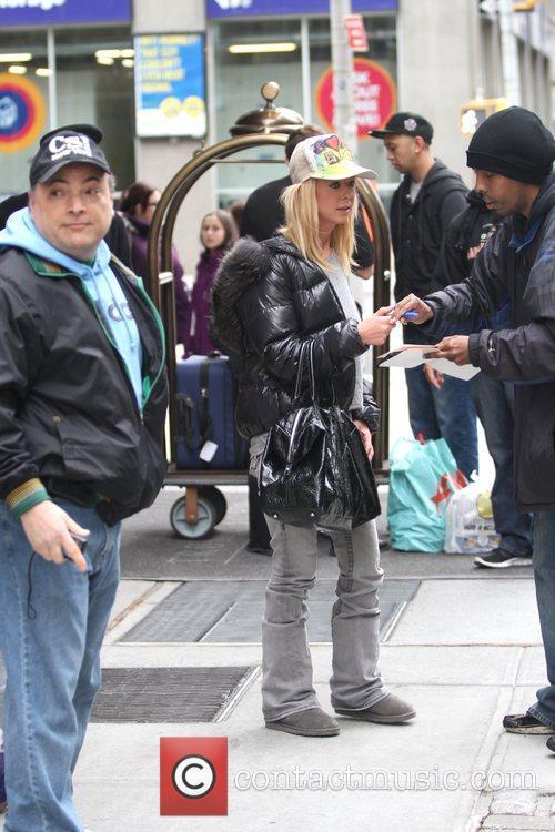 Actress Tara Reid is seen leaving her Soho...
