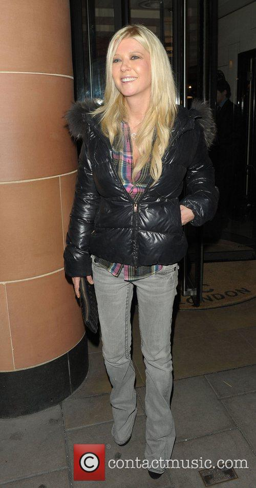 Tara Reid  leaving C London restaurant London,...