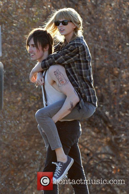Singer Taylor Swift, Reeve Carney, I Knew You Were, Trouble and Palmdale 22