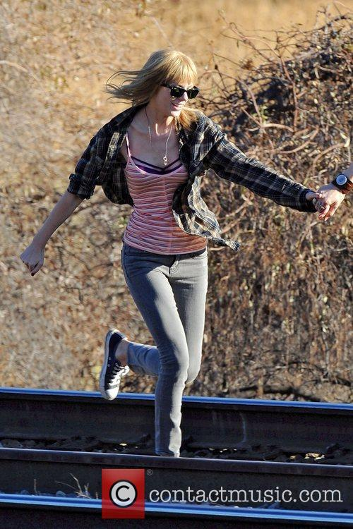 Singer Taylor Swift, Reeve Carney, I Knew You Were, Trouble and Palmdale 18