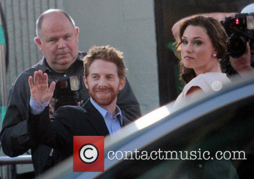 Seth Green and Claire Grant Los Angeles Premiere...