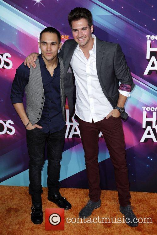 Carlos Pena Jr. and James Maslow Nickelodeon's 2012...