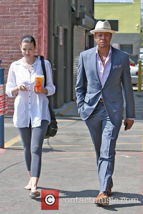Actor Terrence Howard  seen having lunch with...