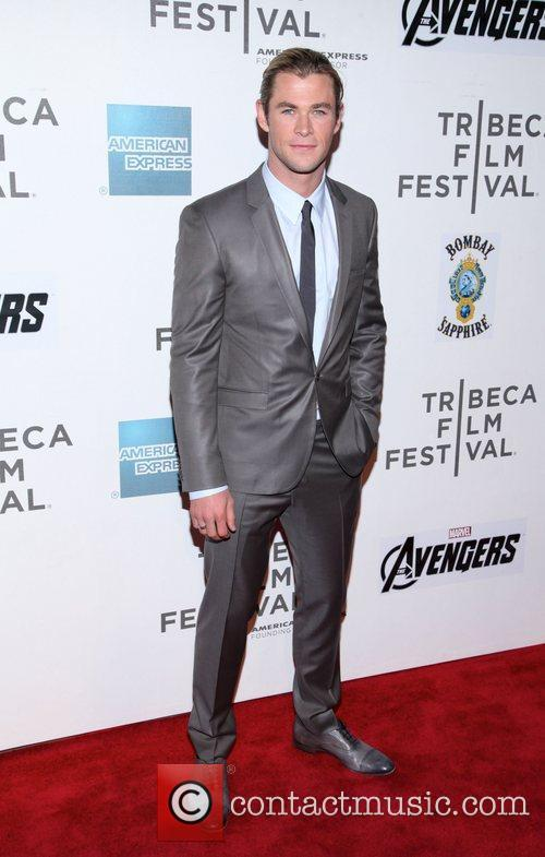 Chris Hemsworth 'Marvel's The Avengers' premiere during the...