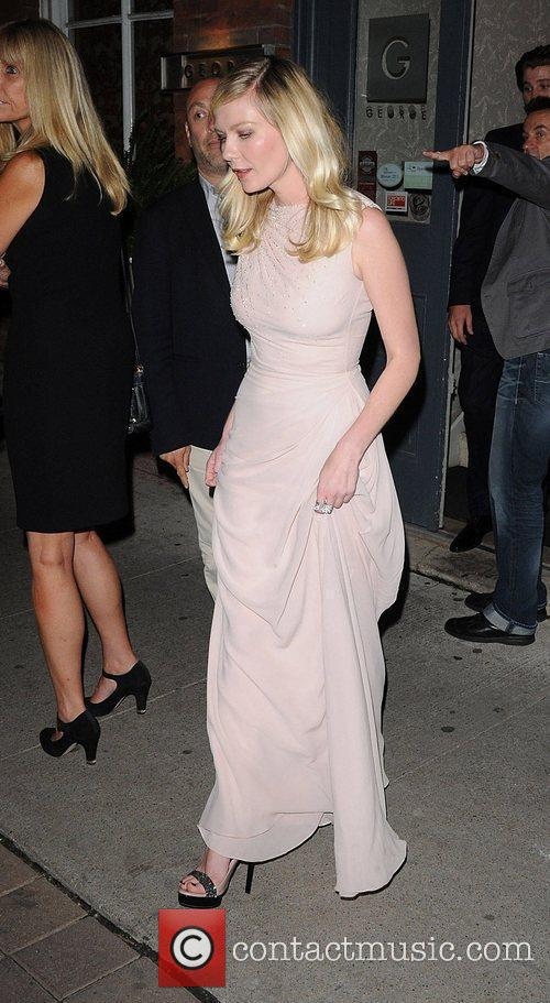 Leaves George restaurant after Premiere of ' On...