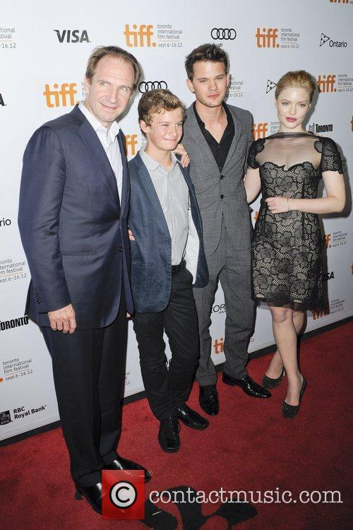 Ralph Fiennes, Holliday Grainger and Jeremy Irvine 1