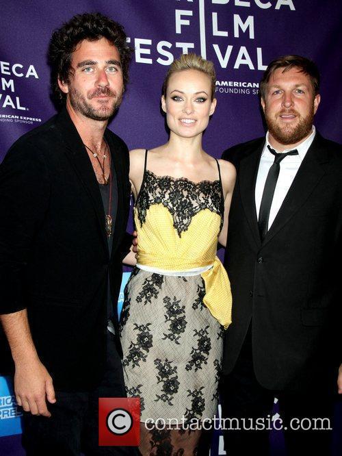 Bryn Mooser, Olivia Wilde and David Darg 2012...