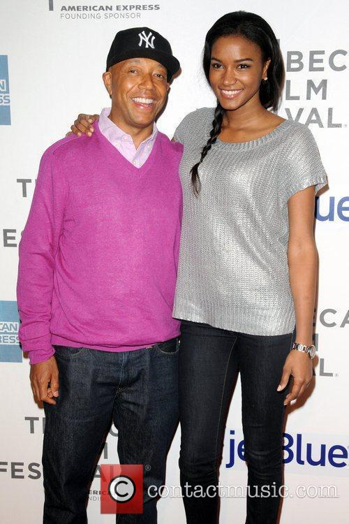 Russell Simons and Leila Lopes  Tribeca Film...