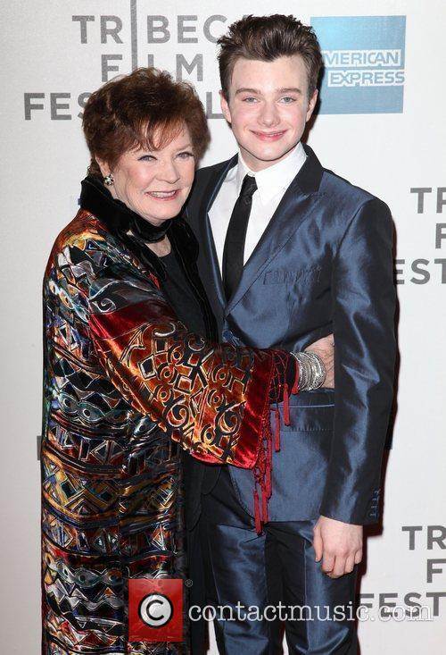 Polly Bergen and Chris Colfer