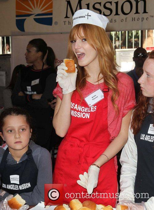 Bella Thorne and Los Angeles Mission 4