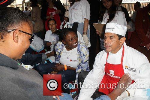 Los Angeles Mayor Antonio Villaraigosa,  at the...