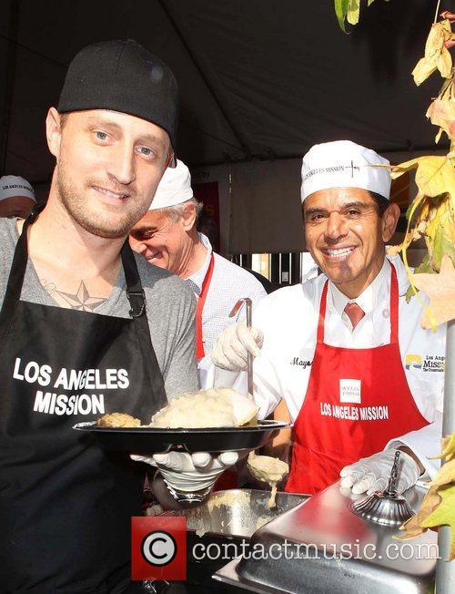 Chef Michael Voltaggio, Los Angeles Mayor Antonio and Villaraigosa 2