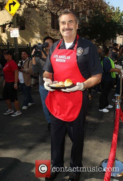 Los Angeles Police Chief Charlie Beck,  at...