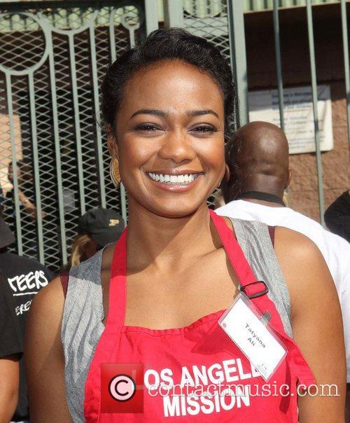 Tatyana Ali,  at the Los Angeles Mission's...