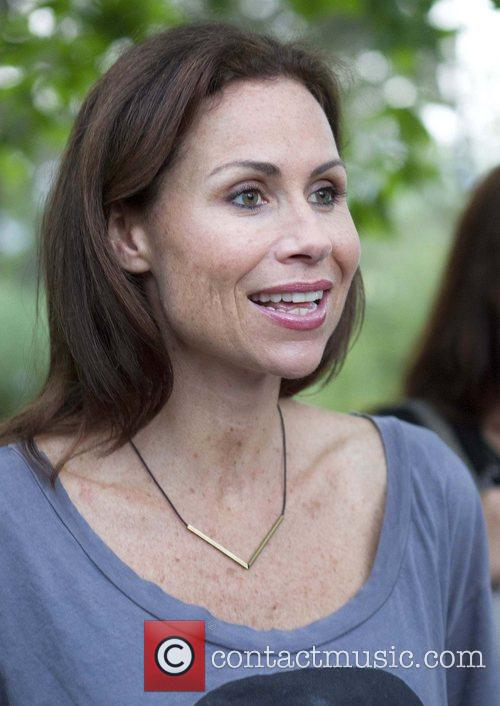 Minnie Driver 'The 24 Hour Plays' after performance...