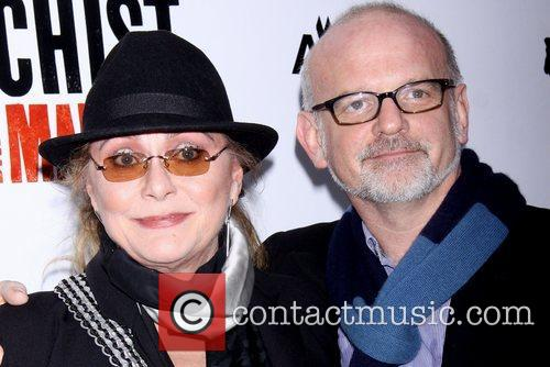 Elizabeth Ashley and Michael Simon at the Broadway...