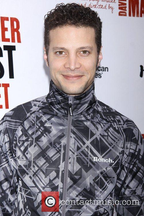 Justin Guarini, Bench, Broadway, The Anarchist, Golden Theatre and Arrivals. New York City 1