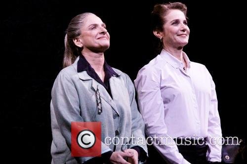 The Broadway opening night curtain call for 'The...