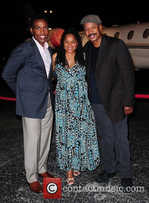 Calvin Hughes, commissioner Michelle Spencer and Robert Townsend...