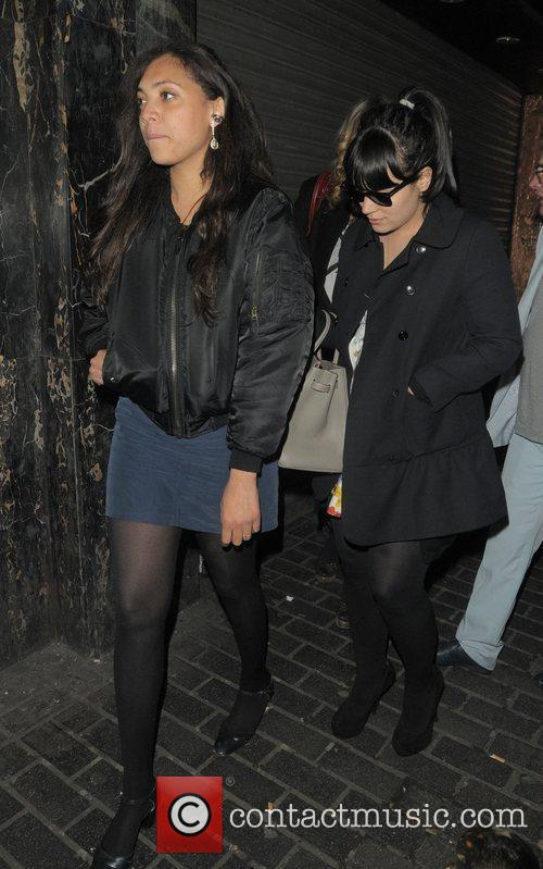 lily allen and miquita oliver arriving at 3861906