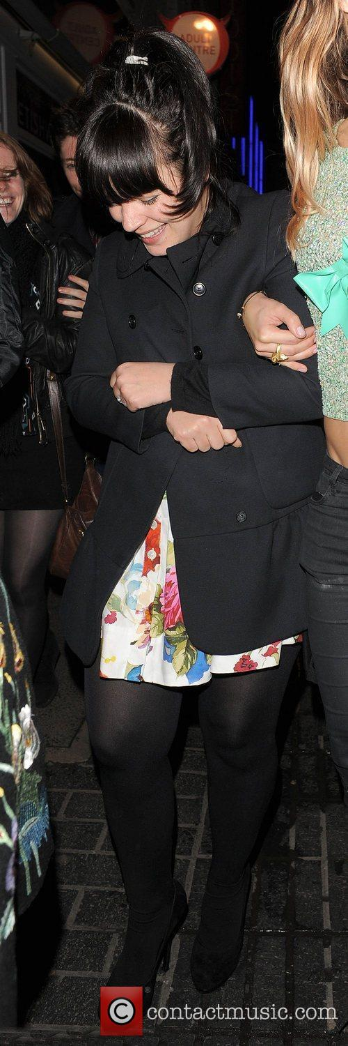 lily allen leaving the box club at 3861901