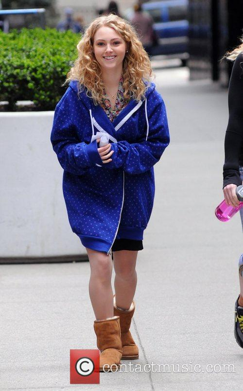 On the set of 'The Carrie Diaries' in...