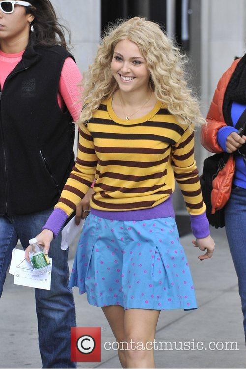 AnnaSophia Robb seen on the set of 'The...