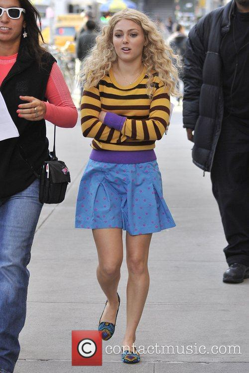 Seen on the set of 'The Carrie Diaries'