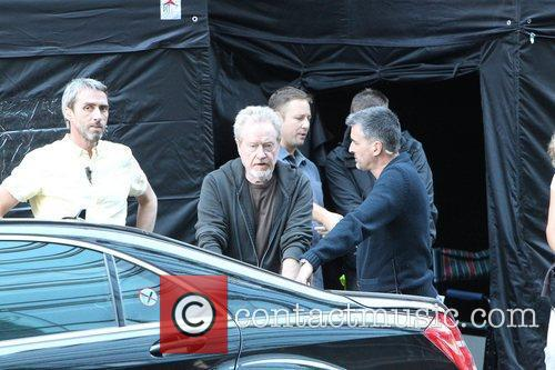 Ridley Scott and Brad Pitt 3