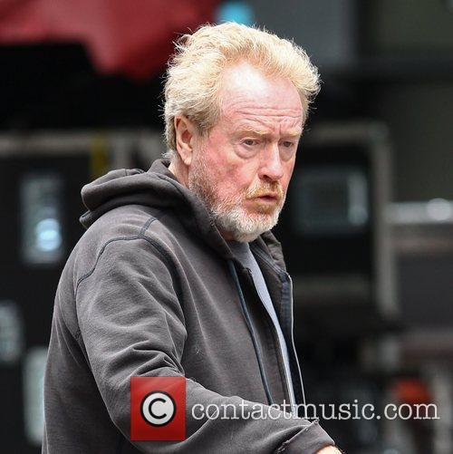 Ridley Scott and Brad Pitt 5