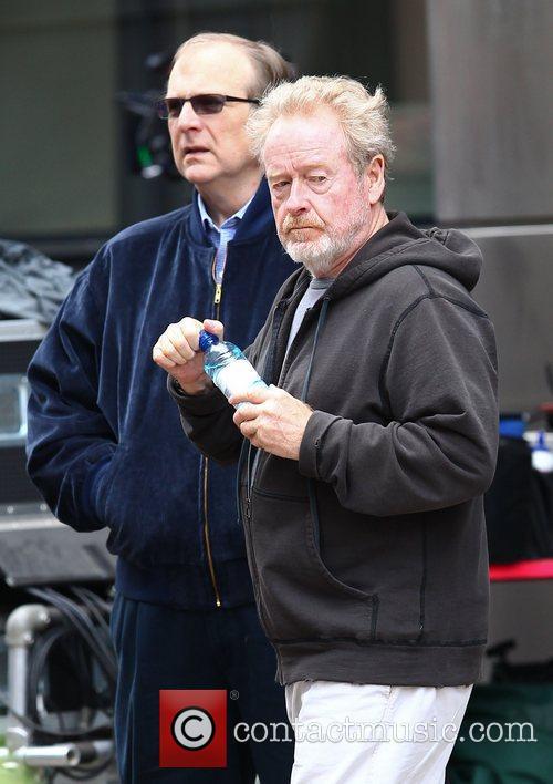 Ridley Scott and Brad Pitt 7