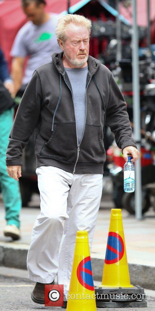 Ridley Scott and Brad Pitt 1
