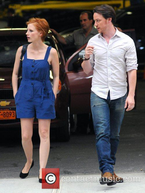 Jessica Chastain and James Mcavoy 7