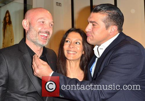 Frank Leboeuf, Tamer Hassan and Guest