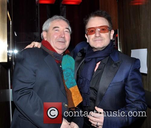 Harry Crosbie; Bono Members of U2 outside Harry...