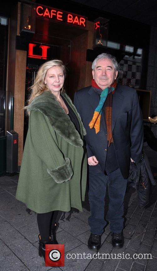 Harry Crosbie; Rita Crosbie Members of U2 outside...
