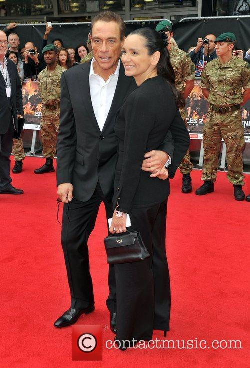 Jean-Claude Van Damme with fun, Wife Gladys Portugues