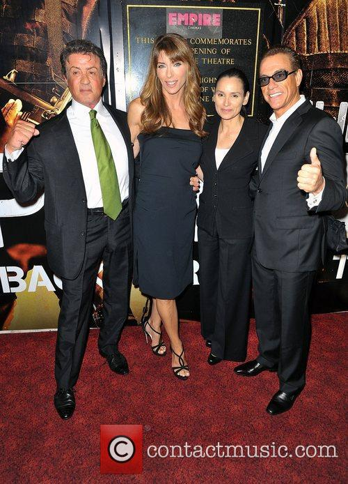 Sylvester Stallone, Jean Claude Van Damme and Empire Leicester Square 4