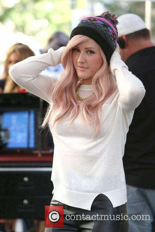 Ellie Goulding appearing on entertainment news show 'Extra'...