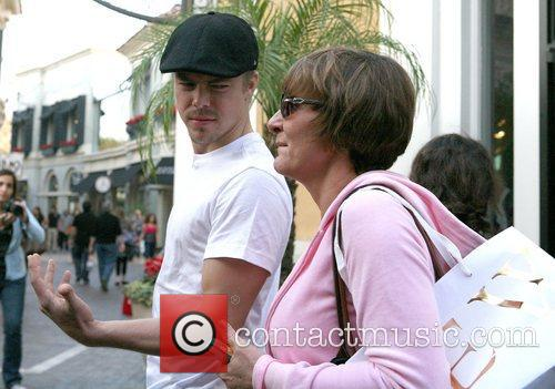 Derek Hough out shopping at The Grove Los...