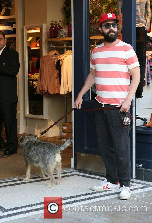Brett Gelman out shopping at The Grove with...