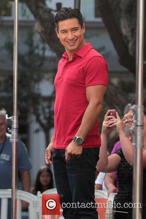 Mario Lopez   seen on the set...