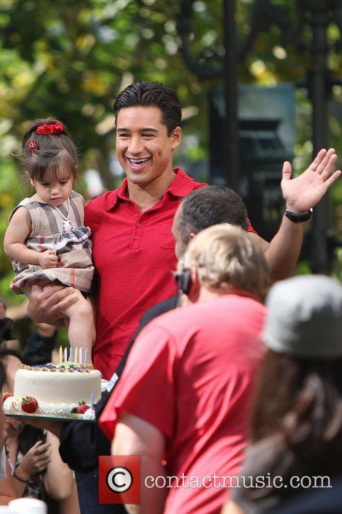 Mario Lopez seen with his daughter Gia, while...