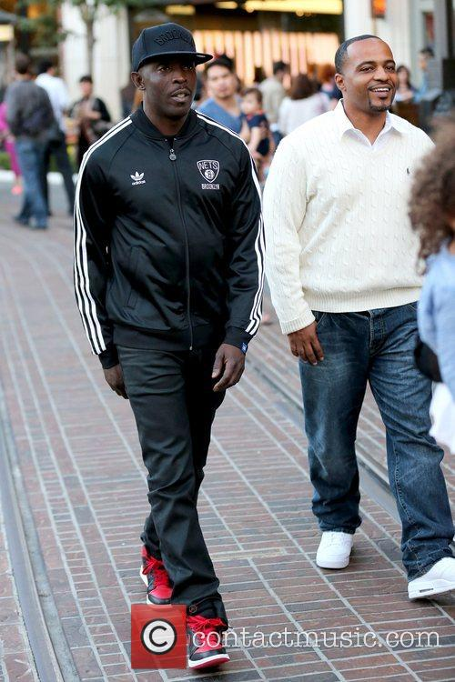 Actor Michael K. Williams out and about at...
