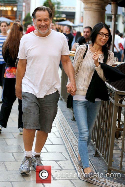 James Remar and girlfriend Yuka Kojima enjoy a...