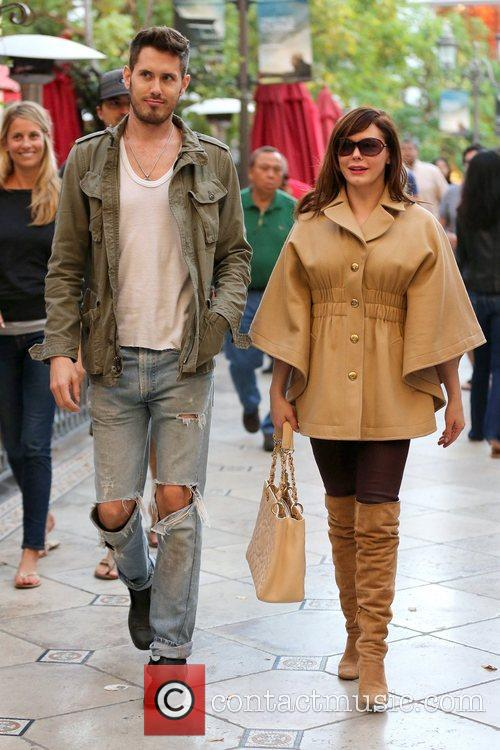 Rose McGowan enjoys the day at The Grove...