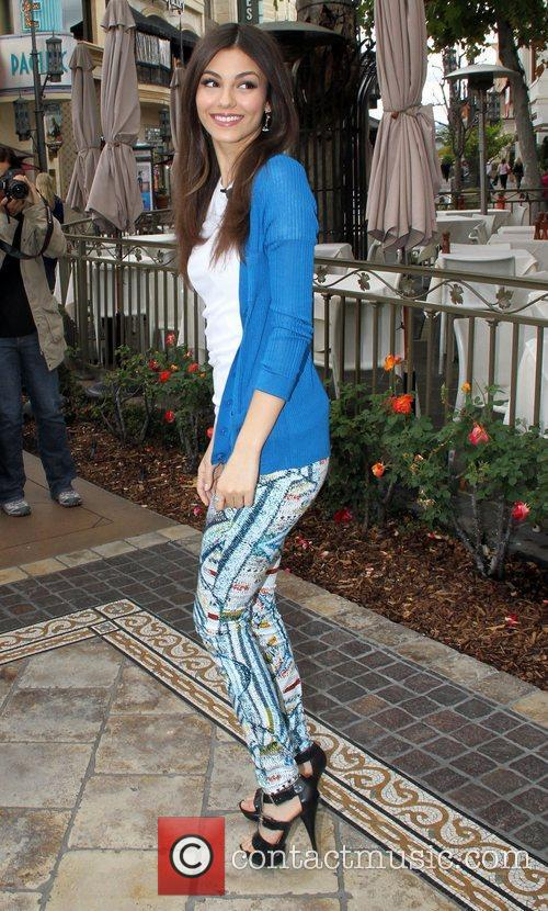 Celebrities at The Grove in Hollywood